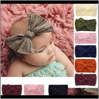 Jewelry Drop Delivery 2021 Cute Big Bow Hairband Baby Girls Toddler Kids Elastic Headbands Knotted Turban Head Wraps Bowknot Accessories Rabb