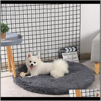 Kennels Pens Home & Garden Drop Delivery 2021 Kennel Round Winter Warm Dog House Sleeping Bag Long Plush Super Soft Pet Bed Puppy Cushion Mat