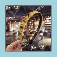 Headbands Jewelry Jewelryfashion Rhinestone Hair Aessories For Women Fresh Simple Hand-Woven Drill Strip Headband Girls Casual Turban Hairba