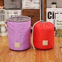 Barrel Shaped Travel Bags Nylon Polyester High Capacity Drawstring Elegant Drum Wash Bag Makeup Storage Organizer DHD6184