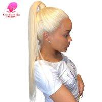 13x4 13x6 360 613 Frontal Peruk İnsan Saç Ön Pullu Uzun Brezilyalı Düz Sarışın Ombre Renk HD Tutkalsız Tam Dantel Peruk