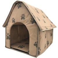 الكلب البيوت الكلاب ملحقات جودة منزل منزل بطانية طوي صاحبات أقدام الحيوانات الأليفة خيمة القمامة القمامة بيت الكلب داخلي السفر المحمولة p