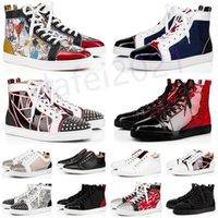 Мужские повседневные туфли Женщины открытый красный днища обуви шипованные шипы мокасины кроссовки замшевые кожаные квартиры Ttrainers jogging des chaussures a41