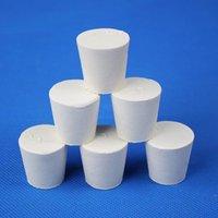 اللوازم المعملية استخدام 000 # 8-12.5mm إلى No.10 43-52mm المطاط الأبيض سدادة سدادة مكونات قارورة زجاجة أو معدات كيمياء مختبر أنبوب