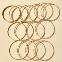 14pcs/sets Punk Gold Color Bracelets Bangles for Women Trendy Alloy Metal Wide Bangle Bohemian Jewelry Party Gifts 3072 Q2