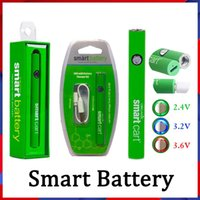 Carrinho inteligente bateria Vape 510 cartuchos de rosca 380mAh Variável tensão pré-aquecendo baterias SmartCart com carregador USB Evod Law vértice