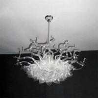 Подвесные светильники светодиодные белые цветные 100% ручной работы стеклянные люстры подвесные световые дуплексное здание 32 * 32 дюйма офис гостиная арт деко внутреннее освещение