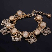 Bangle Bracelet Zoshi Personality Women Simulated Pearl Bead Long Strip Metal Charm Female Gold Color Jewelry Gifts
