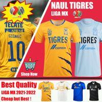 2020 2021 NAUL TIGRES maillots de football 20/21 7 étoiles domicile troisième GIGNAC VARGAS gardien de but Camiseta de Futbol MEXICO LIGA MX chemises enfants Jerseys
