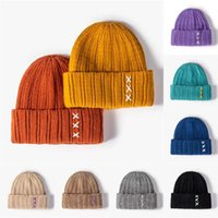 Berets Winter Solid Color Wool Knit Beanie Women Fashion Casual Hat Warm Female Soft Thicken Hedging Cap Slouchy Bonnet#F