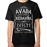 الرجال القمصان مضحك القمصان الرجال تي شيرت أزياء قميص lanshitina avada kedavra الكلبة تي