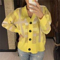ColorFaith New 2021 осень зима женские свитеры клетчатые клетчатые кнопки кардиганы модные корейские дамы трикотажные SWC8814