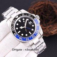 Relojes de los hombres de 40 mm de acero inoxidable 904L dial negro rosa para hombre reloj mecánico automático 2813 pulsera de plata llanta de cerámica impermeable