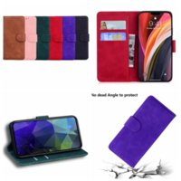 Skin Feel Plain Retro Vintage PU Leather Wallet Cases For IPhone 13 12 Mini 11 Pro XR XS MAX 8 7 6 ID Card Slot Holder Magnetic Flip Cover Men Business Fashion Pouch