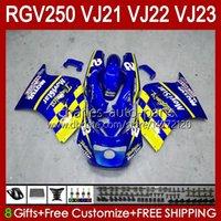 Kit de cuerpo para Suzuki RGV250C SAPC VJ21 RGV250 RGV-250CC Bodywork VJ-21 Blue nuevo panel 21HC.69 RGVT RGV 250CC 250 CC RGV-250 88 89 RGVT-250 VJ 21 1988 1989 Fairting OEM
