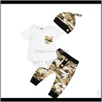 Sets Clothing Baby, Kids & Maternity3Pcs Born Infant Baby Boy Clothes Set Cotton Tops Summer Short Sleeve Aircraft Pockets Bodysuit Camo Pan