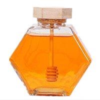 Баночка из стекла для 220 мл / 380 мл мини маленький медовый контейнер для бутылки с деревянной палочкой 1 968 R2