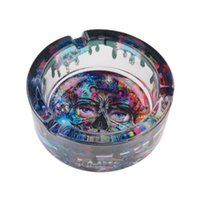 Glass Ashtray Smoking Accessories Unbreakable Decorative Cigarette Tray Light Circular Smoke Convenient Tabacco Accessory for Ashtraies Home