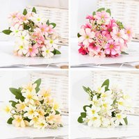 실크 릴리 인공 꽃 꽃다발 벚꽃 파티 웨딩 장식 가짜 거실 홈 장식 액세서리 장식 화환