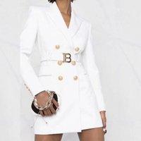 Abiti da donna Blazer 2021 Arrivo Moda Doppio bottoni Blazer Dress Autunno Inverno Donne Manica lunga Slim Abbigliamento Club Party