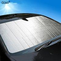 1pcs 자동차 커버 윈드 스크린 커버 열 태양 그늘 안티 스노우 프 로스트 아이스 방패 먼지 UV 보호자 겨울 자동차 스타일링 햇빛
