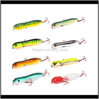 Lures Sports & Outdoors Drop Delivery 2021 8Pcs Pencil Bait 100Mm 15Dot5G Top Water Lure Hard Baits Isca Artificial Snake Pesca Leurre Peche