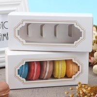 Biscuits Dessert Packing Box Chocolate Sushi White Storage Paper Boxes Toy Candy Rectangle Gift Case Kitchen Hotel Supplies GWE10440