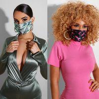 24style designer masque masque masque lavable anti-poussière respirateur équitation cyclisme lettre lettre fleur imprimer masques de mode pour hommes et femmes