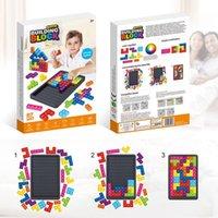 Giocattolo tetris grande gioco game arcobaleno scacchiera spinta bolla popper irrequieto giocattoli sensoriali stress rilievo partito interattivo partito gioco puzzle giocattoli
