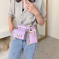 2 adet Kadın Bel Çantası Lüks Tasarımcı Kemer Çanta Kadın Yüksek Kaliteli Deri Flap Fanny Paketi Omuz Çapraz Vücut Göğüs Çantası Hip Çantaları T200717