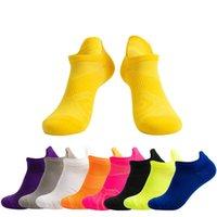 Erkekler / Kadınlar Koşu Çorap Basketbol Nefes Anti Kayma Spor Bisiklet Yürüyüş Kadın Açık Çorap Pamuk Atletik Hiçbir Ter Çorap 1355 Z2