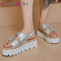 Animoli Natural Natural Cuero Sandalias de Cuero Espadrille Plataforma Plana Mujer Zapatos Sandalias Open Toe Sandalias Casual Lady Calzado Sliver Gold Reef Sandals Gold L0TK #