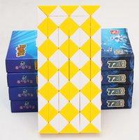 ماجيك 72 ثعبان تويست مكعب لغز حاكم 3d الأفعى لعب الأطفال التعليمية الهدايا الخاصة diy اللعب التعلمية cubo magic