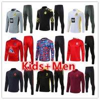 Bayern Monaco Borussia Dortmund Mens + Bambini Football Tracksuits Training Training Suit Jerseys Set 2021 2022 Uomo Kid Soccer Tracksuit Set Jogging Kit Chandal