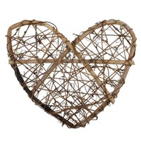Wall Stickers Garneck Heart Shaped Wreath 30cm Rustic Decorative Vine Ring For Christmas DIY Party Wedding Hanging Ornaments