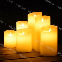 LED Candle Light tea Lights 30cm Flicker Flameless Blade Swing Decoration Wedding Party Christmas Simulation Candles DHL