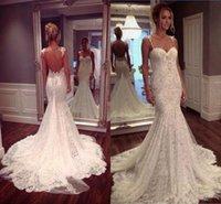 2021Sexy Mermaid Lace Wedding Dresses Spaghetti Straps Sweetheart Backless vestidos de novia Custom Made Bridal Gowns