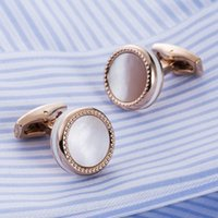 Mother Pearl Male French Cufflinks Shirt Alta Cuff links Wedding Gifts For Men Guests 525000 Mens Suit Sleeve Buttons