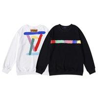 Casual Sweatshirts Färgmålning Teknik Hantverk Skriv ut Ny Höst Hoodies Loose Cotton Logo Kvinnor och Män Par Sweater Fashion Youth Lou är hoodie