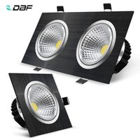[DBF]Black Square Recessed LED Dimmable Downlight 7W 9W 12W 15W 14W 18W 24W 30W COB Ceiling Spot Light AC110V 220V Lights