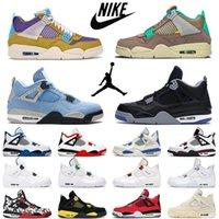 Yelken Hava Ürdün 4 4 S Erkek Basketbol Ayakkabı Siyah Kedi Beyaz Çimento Ne Sıçrayan Kaktüs Jack Gri Erkek Kadın Spor Sneakers