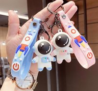 Astronauts Travel PVC Keychain Toys Backpack Key chain Pendant Kids Jewelry Gifts