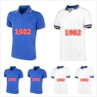 Retro 1982 1994 1996 1998 2000 2000 Itália Jerseys de futebol Platini Boniek Rossi Tardelli Gentile Home Fora Camisa de Futebol Clássico S-2XL