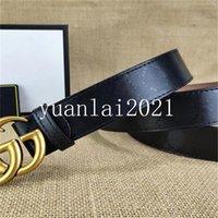 2022 femmes ceinture GGHommes de haute qualité cuir véritable noir et blanc couleur de couleur de vachette pour les ceintures de luxe pour hommes avec boîte