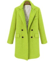 Solid Wide-waisted Women Long Winter Wool Blend Coat Warm Fashion Vintage Wool Coat and Jacket Double Breasted Outerwear WJL0068