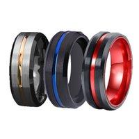 FDLK 3 стили классические обручальные кольца для мужской нержавеющей стали черный с красным синим алюминиевым участием