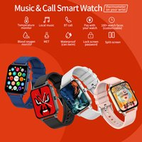 MX7 Smart Watch Men Women Body Temperature Blood Pressure Monitor DIY watchfaces Music Playback Smartwatch For Android ios