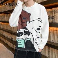 Men's Sweaters Zongke Cartoon Beer Harajuku Sweater Mens Jumpers For Men Vintage Clothing M-3XL 2021 Autumn Winter Arrivals