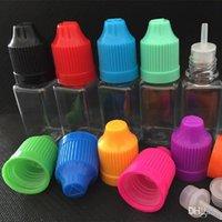 10ml 30ml Vuoto Vape Dropper Pet Eye Bottiglie Trasparente Quadrato Plastica Unicorn Plattiera per EQUIDE CON I Colori Cappello a vite infantile