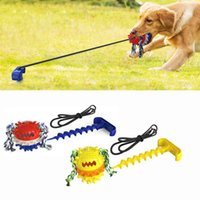 Dog Chews Tug Pull Roep Ball Toy Pet Dog Chew Toy Spiral Anchor Stake Toys Pet's Molar Bite Toy-boll For Small Medium Large Pet Outdoor